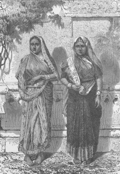 Associate Product INDIA. Low Caste Hindu women, Bombay (Mumbai)  1891 old antique print picture