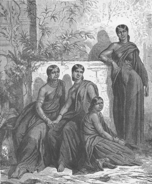 Associate Product INDIA. Meriahs destined for sacrifice, rescued by the Government 1891 print