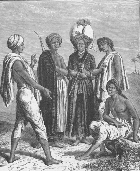 Associate Product INDIA. Khonds from Khondistan 1892 old antique vintage print picture