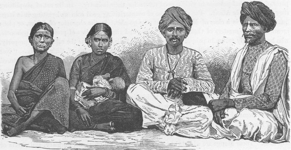 Associate Product INDIA. Natives of the Deccan 1892 old antique vintage print picture