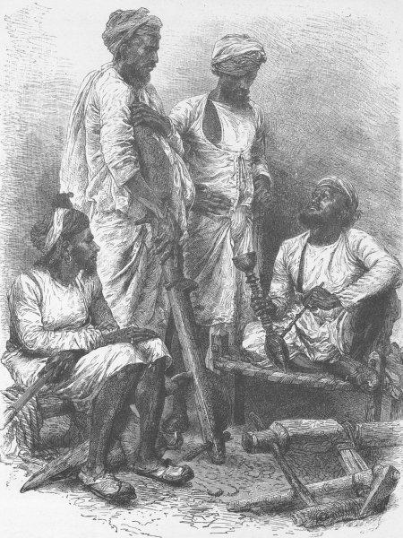 Associate Product INDIA. Jat Zemindars (Crown Lessees) and Ryots (Peasants)  1892 old print