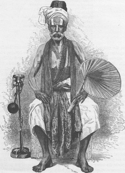 Associate Product INDIA. Hindu religious mendicant 1892 old antique vintage print picture