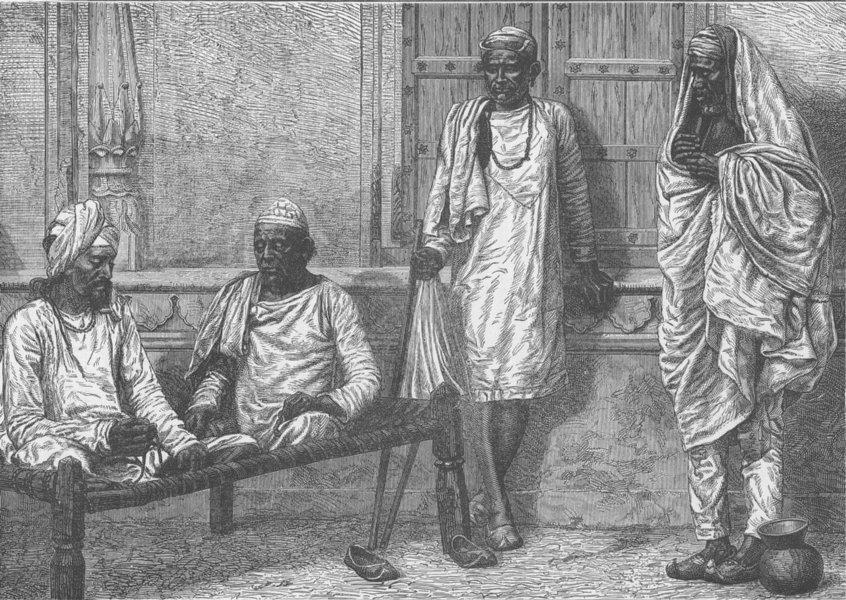 Associate Product INDIA. Religious mendicants, Varanasi 1892 old antique vintage print picture