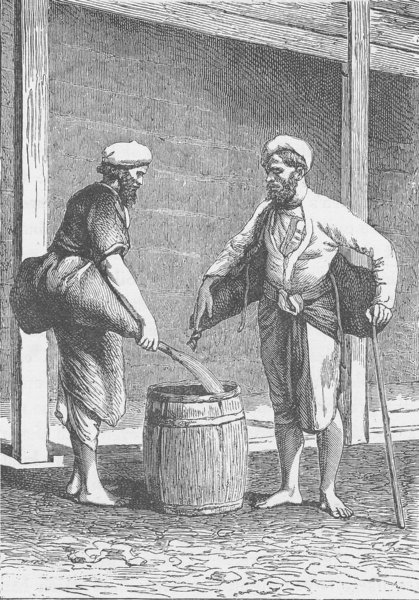 Associate Product INDIA. Water-carriers of Calcutta (Kolkata)  1892 old antique print picture
