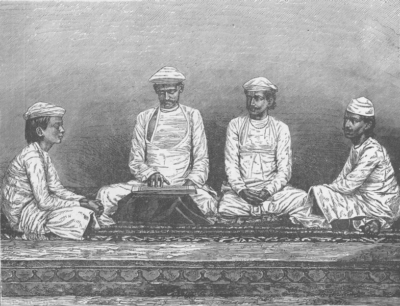 Associate Product INDIA. Brahmins of Bengal 1892 old antique vintage print picture