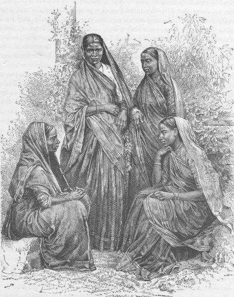 Associate Product INDIA.Native women(Bombay(Mumbai)Presidency)converts to Christianity 1892