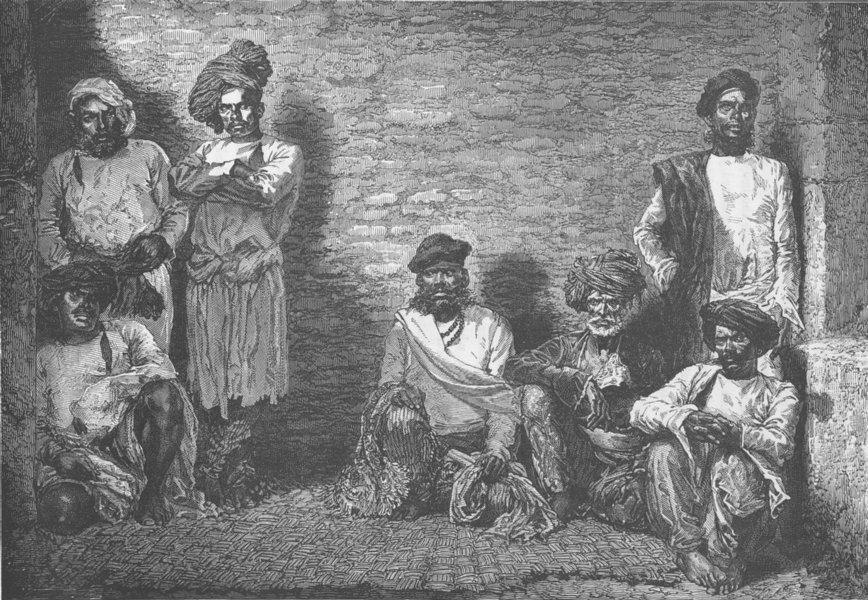 Associate Product INDIA. Thug prisoners in Gaol 1892 old antique vintage print picture