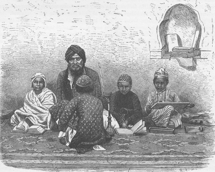 Associate Product INDIA. Mohammedan School at Allahabad 1892 old antique vintage print picture