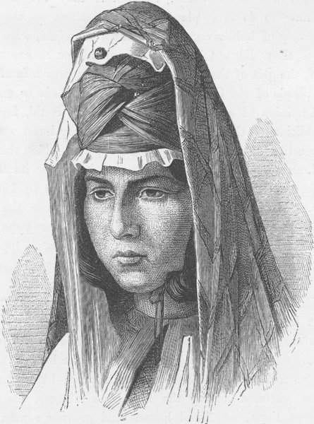 Associate Product RUSSIA. Tatar woman of Kasak 1893 old antique vintage print picture
