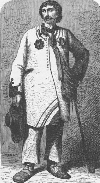 Associate Product CROATIA. Slavonian peasant 1893 old antique vintage print picture