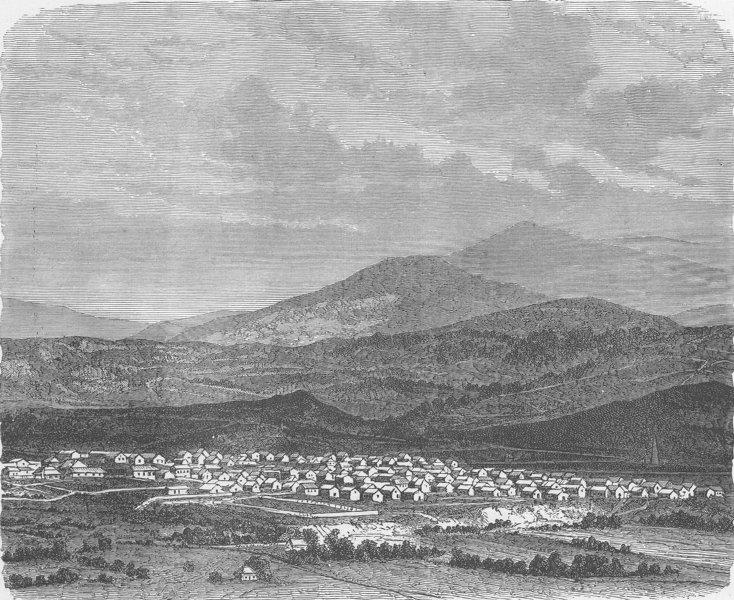 Associate Product ROMANIA. Livadzeli, a mining village in Transylvania 1893 old antique print