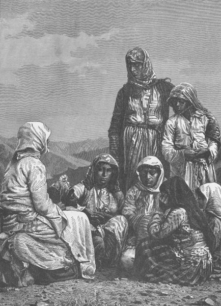 Associate Product BULGARIA. Gypsies of Bulgaria 1893 old antique vintage print picture