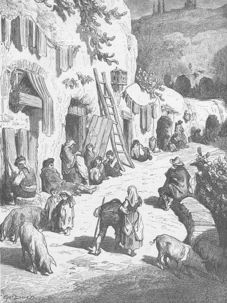 Associate Product GRANADA. The Grottoes of Sacro Monte, HQ of the gypsies (Gitanos)  1893 print