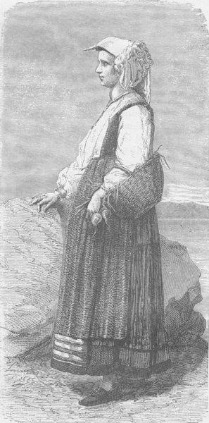 Associate Product ITALY. Peasant woman of Biassa, near La Spezia 1893 old antique print picture