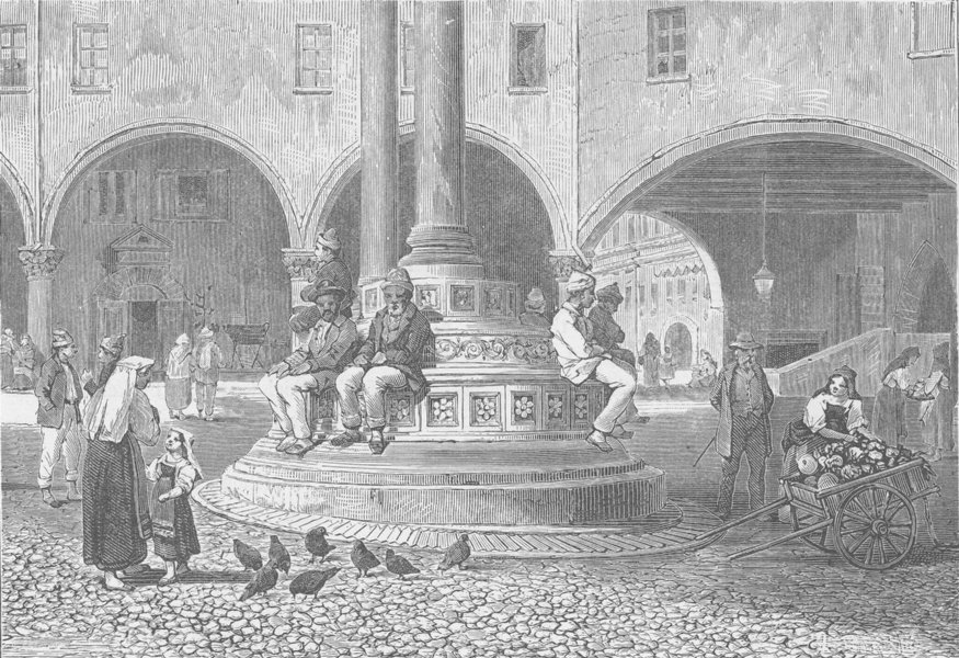 Associate Product ITALY. View in Ravenna 1893 old antique vintage print picture
