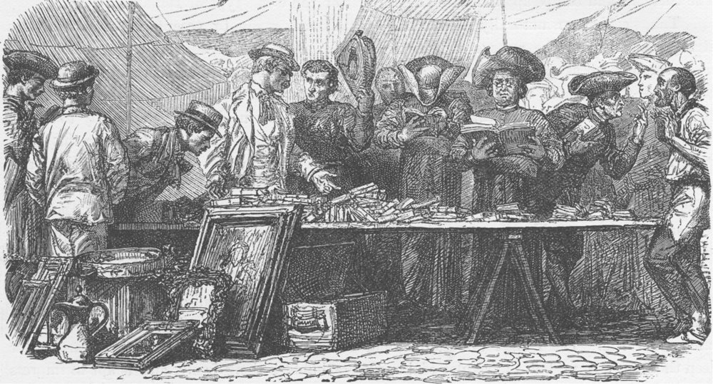 Associate Product ROME. Curiosity stall in Rome 1893 old antique vintage print picture