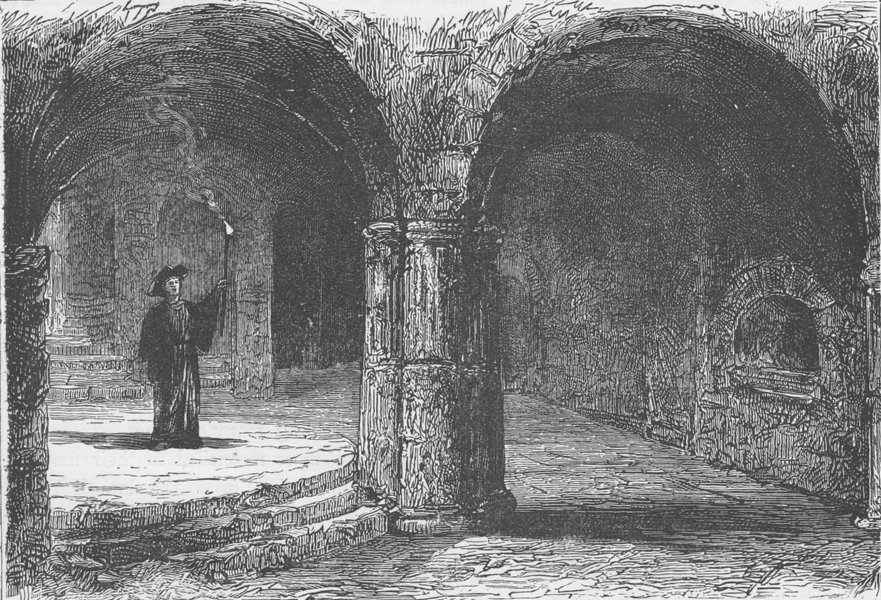 Associate Product MALTA.Catacombs,Citta Vecchia,where St.Paul is said to have preached 1893
