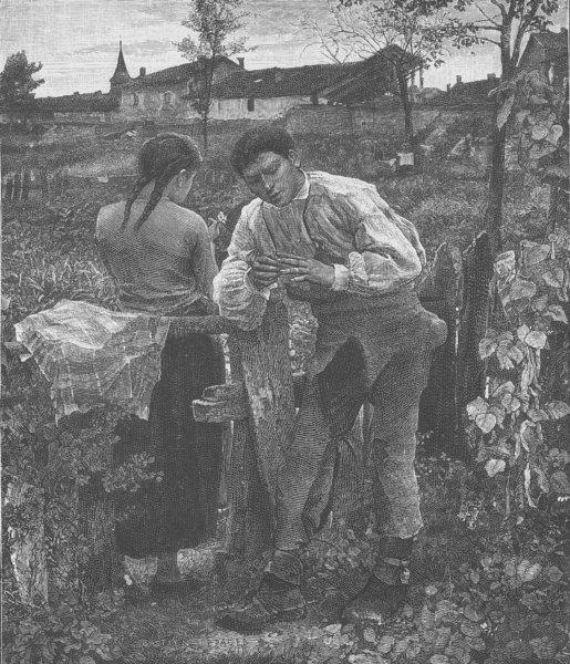 Associate Product FRANCE. Peasants of Damvillers (Meuse)  1894 old antique vintage print picture