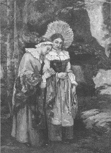Associate Product FRANCE. Alsatian pilgrims 1894 old antique vintage print picture