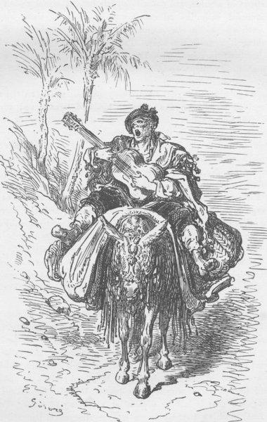 Associate Product SPAIN. Peasant of Alcoy 1894 old antique vintage print picture