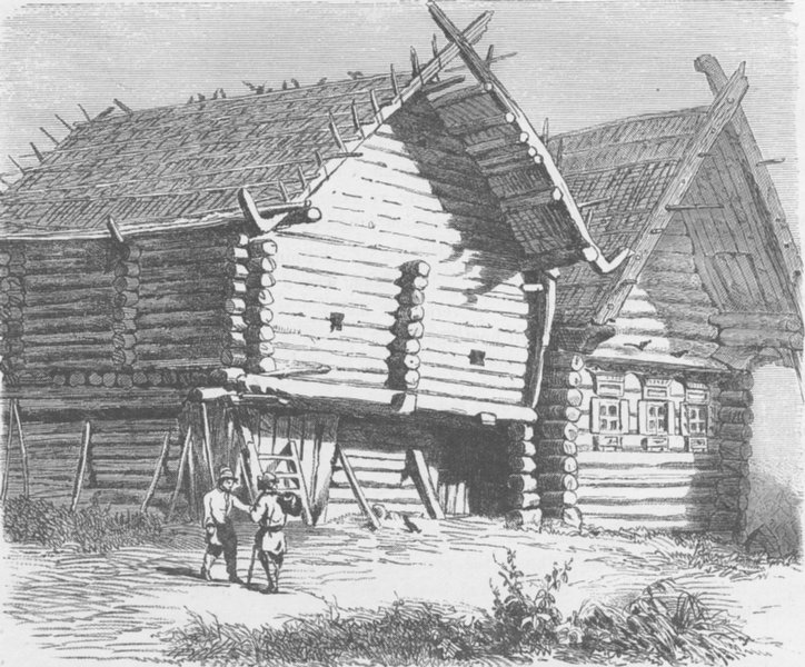 Associate Product RUSSIA. House in Northern Russia 1894 old antique vintage print picture