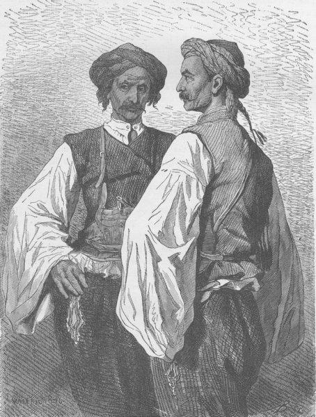 Associate Product MONTENEGRO. Slav peasants of the Herzegovinian frontier near Grahowatz 1894