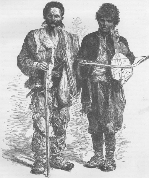 Associate Product BULGARIA. Bulgarian beggars 1894 old antique vintage print picture