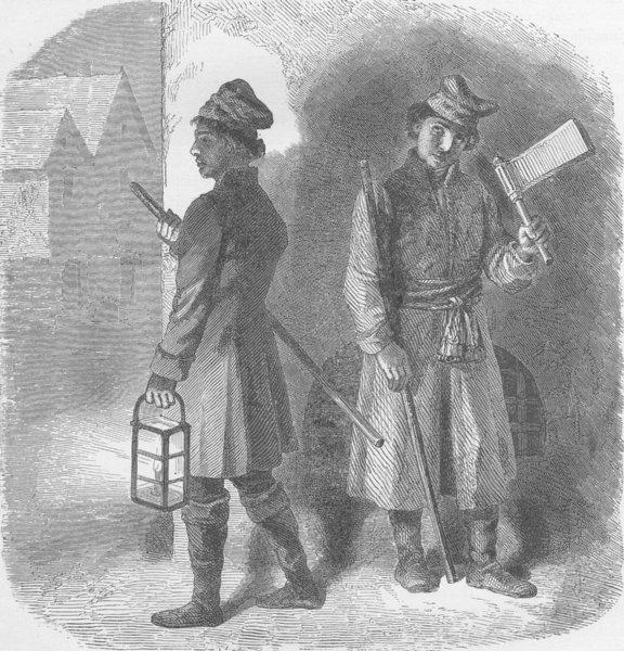 Associate Product POLAND. Polish watchmen 1894 old antique vintage print picture