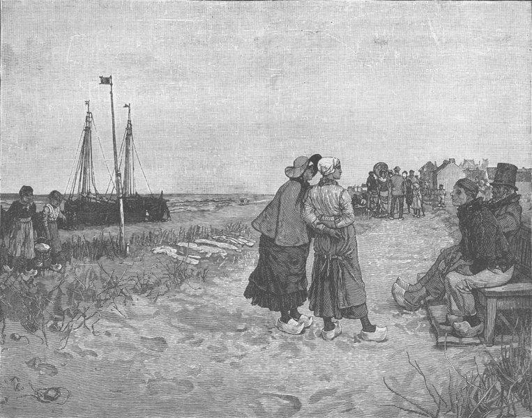 Associate Product NETHERLANDS. Scheveningen-Dutch seaside resort near The Hague 1894 old print