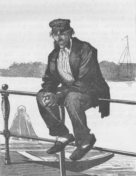 Associate Product NETHERLANDS. Dutch boatman 1894 old antique vintage print picture