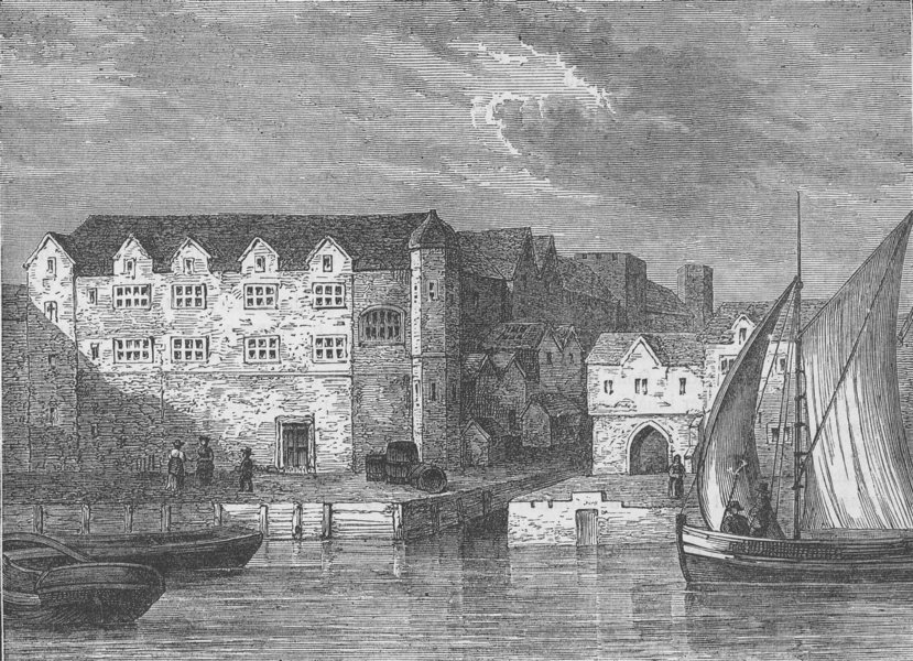 Associate Product ROMAN LONDON. Bridewell in 1666 c1880 old antique vintage print picture