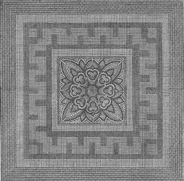 Associate Product ROMAN LONDON. Ancient Roman pavement found in Threadneedle Street, 1841 c1880