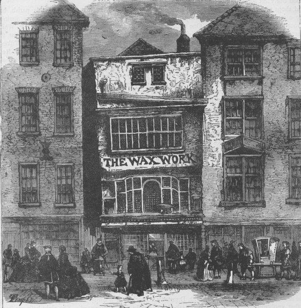 Associate Product FLEET STREET. Mrs. Salmon's wax-works. London c1880 old antique print picture