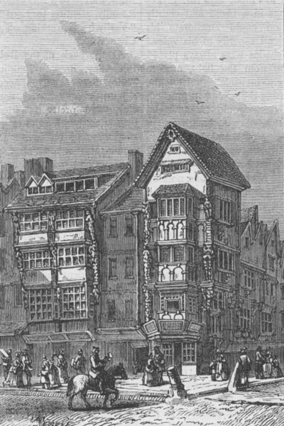Associate Product 120 CHANCERY LANE. Izaak Walton's House. London c1880 old antique print