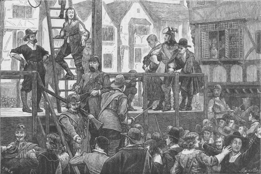 Associate Product WALLER'S PLOT. Execution of Tomkins and Challoner. London c1880 old print
