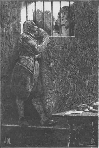 Associate Product SHOE LANE. Lovelace in prison. London c1880 old antique vintage print picture