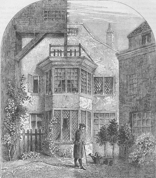 Associate Product SHOE LANE. Bangor House, 1818. London c1880 old antique vintage print picture