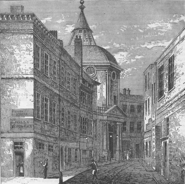 Associate Product BLACKFRIARS. The College of Physicians, Warwick Lane. London c1880 old print