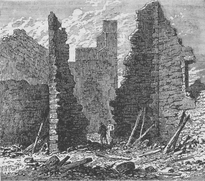 Associate Product LUDGATE HILL. Ruins of barbican on Ludgate hill. London c1880 old print