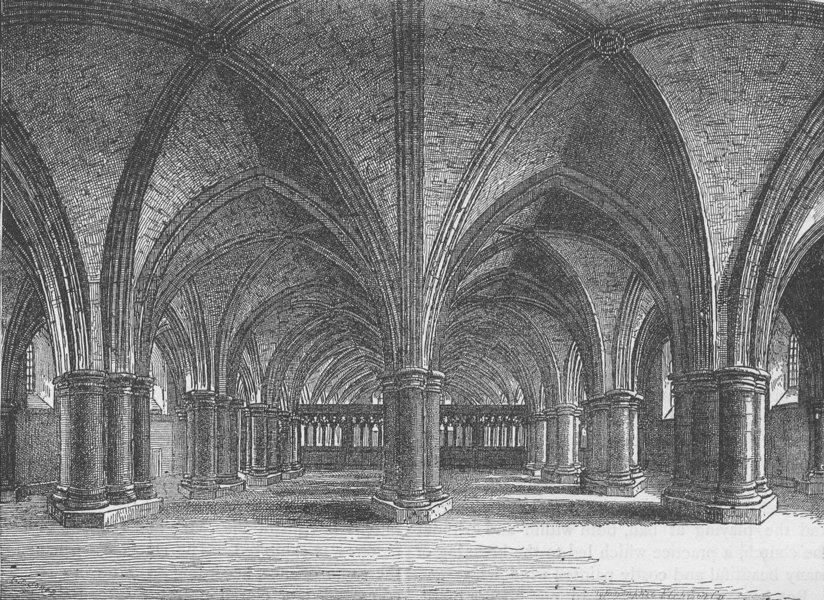 Associate Product ST.PAUL'S. Church of St.Faith, crypt of old St. Paul's (after Hollar) c1880