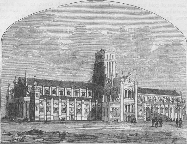 Associate Product ST.PAUL'S. St.Paul's after the fall of the spire, from a view by Hollar c1880