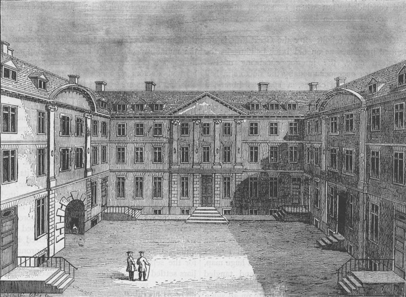 Associate Product HERALDS' COLLEGE. Heralds' college. London c1880 old antique print picture