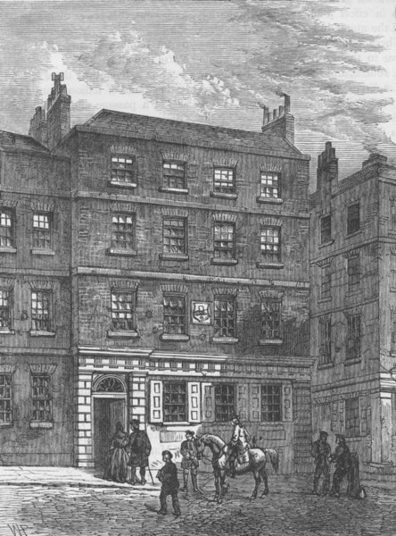 Associate Product HERALDS' COLLEGE. Linacre's House c1880 old antique vintage print picture