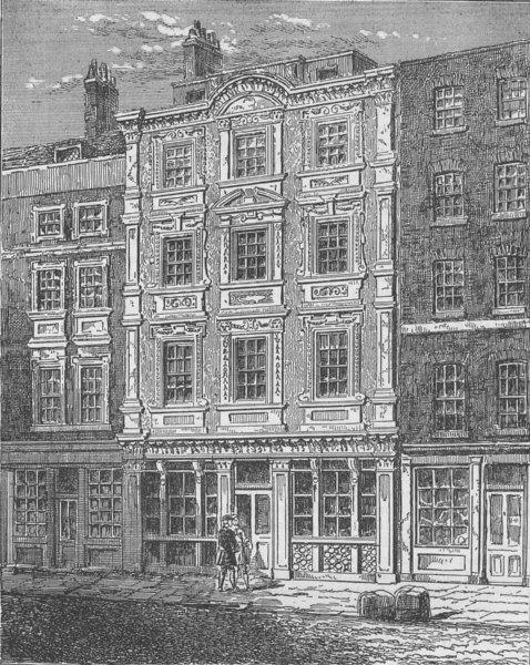 Associate Product CHEAPSIDE. No. 73, Cheapside. London c1880 old antique vintage print picture