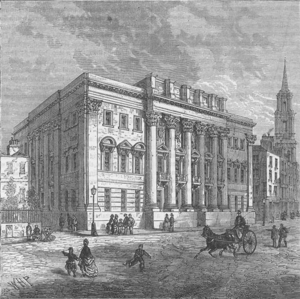 Associate Product CHEAPSIDE. Exterior of goldsmiths' Hall. London c1880 antique print