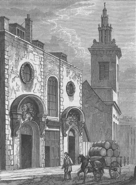 Associate Product THE LORD MAYORS OF LONDON. Whittington's Almshouses, college hill, 1850 c1880