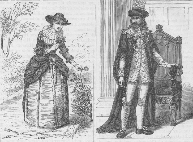 Associate Product THE LORD MAYORS OF LONDON. A Lord Mayor and his lady, mid 17th century c1880