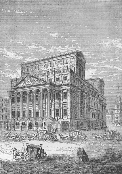 Associate Product CITY OF LONDON. The Mansion House in 1750 c1880 old antique print picture