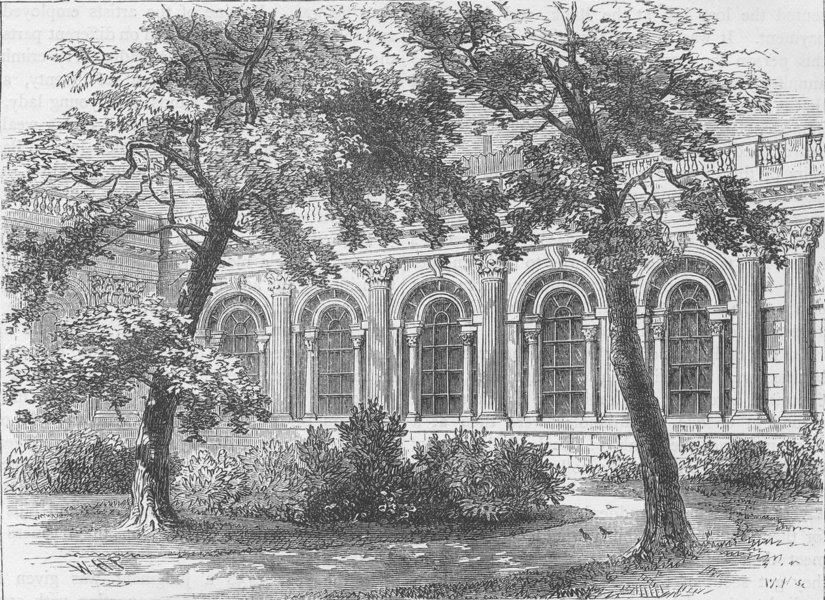 Associate Product THE BANK OF ENGLAND. The Bank parlour, exterior view. London c1880 old print