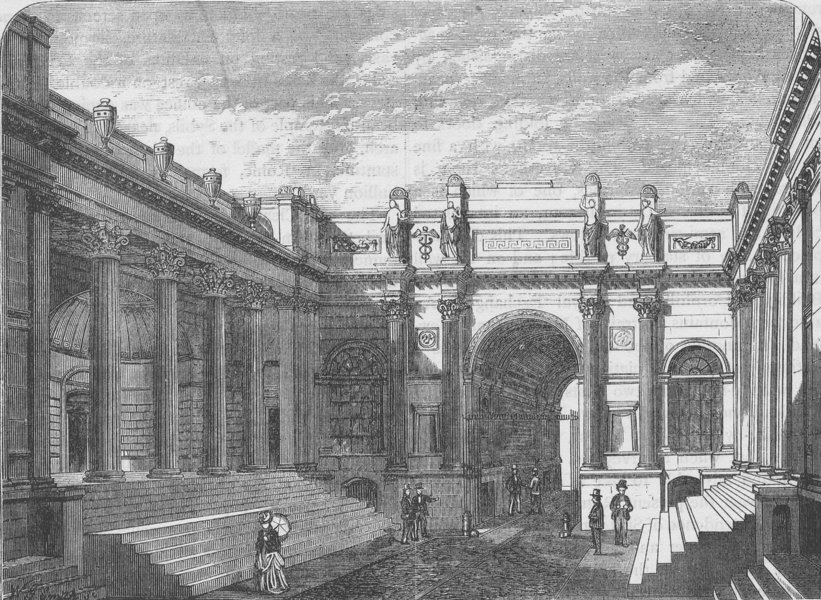 THE BANK OF ENGLAND. Court of the Bank of England. London c1880 old print